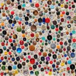 Collage of buttons in various colours & sizes