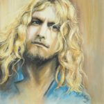 Portrait of young Robert Plant