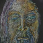 portrait of old man with long hair & beard