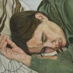 Portrait of young person sleeping