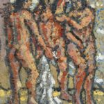 Three nude standing women