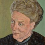 portrait of the actress Maggie Smith