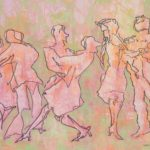 dancing couples in pink