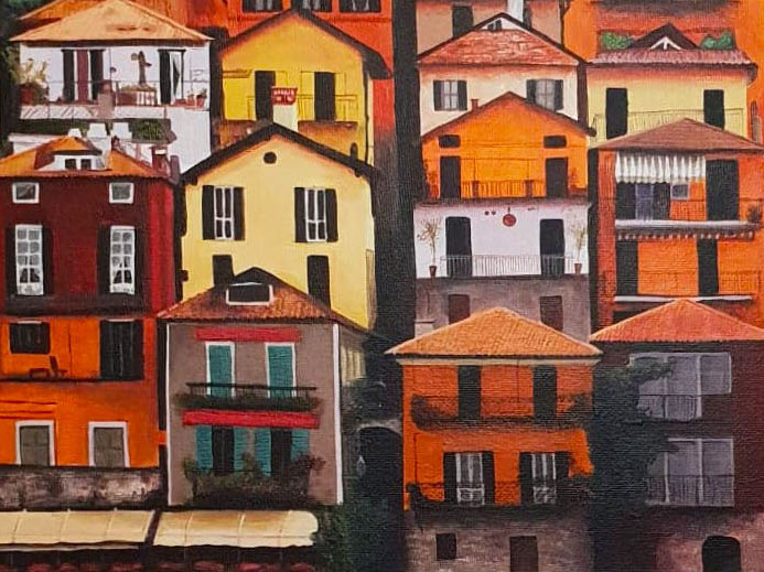 painting of houses
