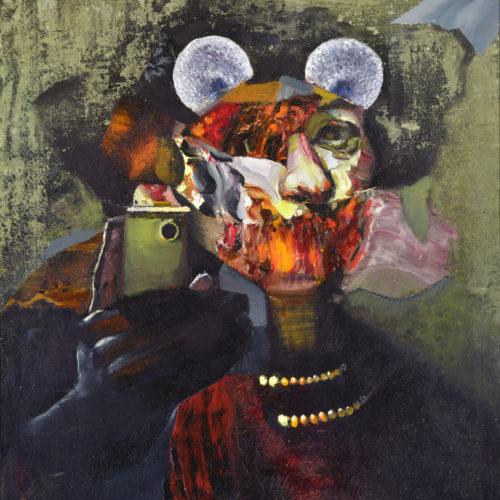 Collage figure portrait