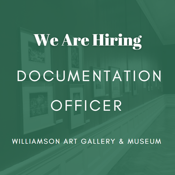"""White text on a green background. Text reads: """"We Are Hiring: Documentation Officer"""""""