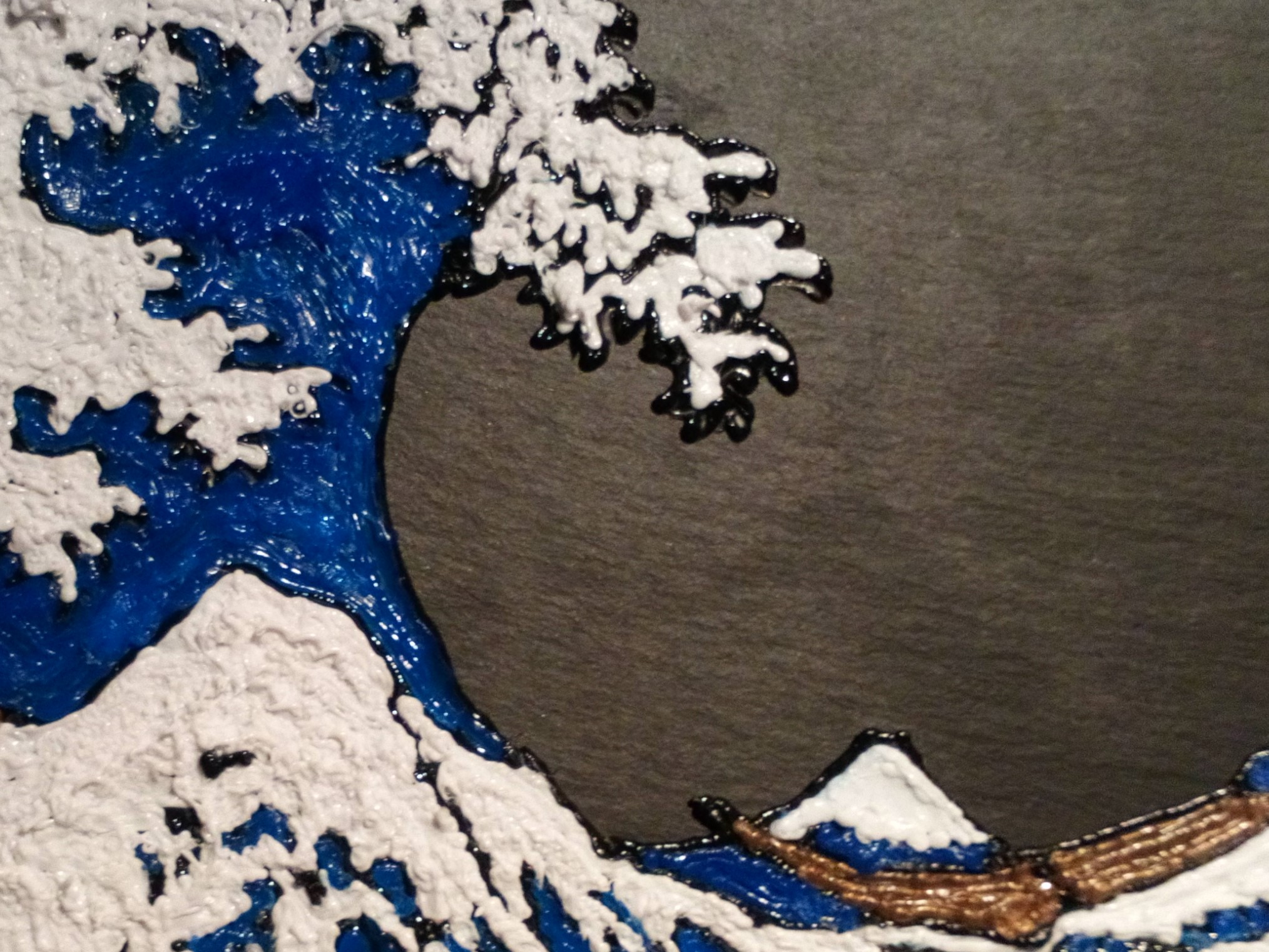 Hokusai wave in 3D pen