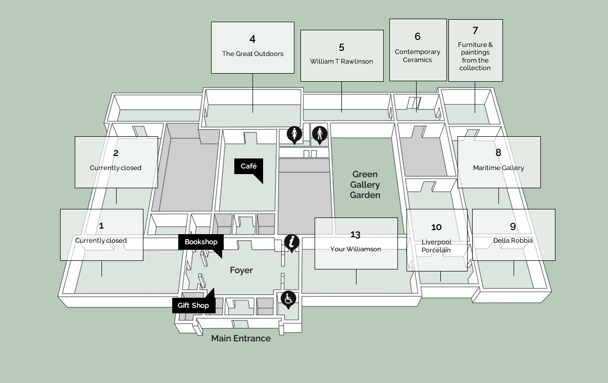 Map of the Williamson galleries