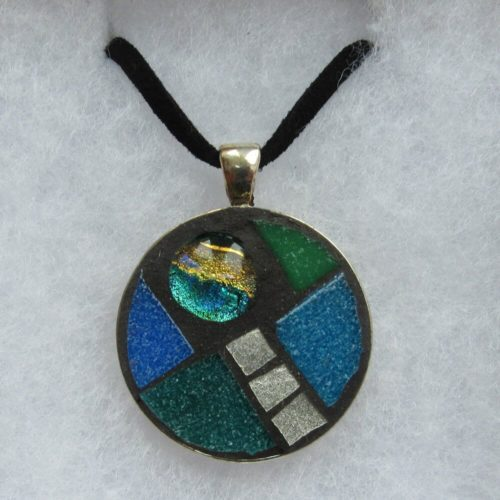 Mosaic pendant by Aleta Doran