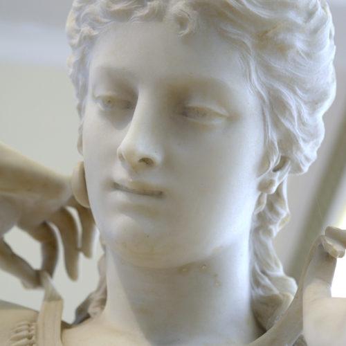 face of marble Pauline sculpture