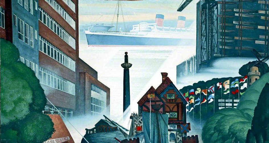 Painting of Birkenhead landmarks