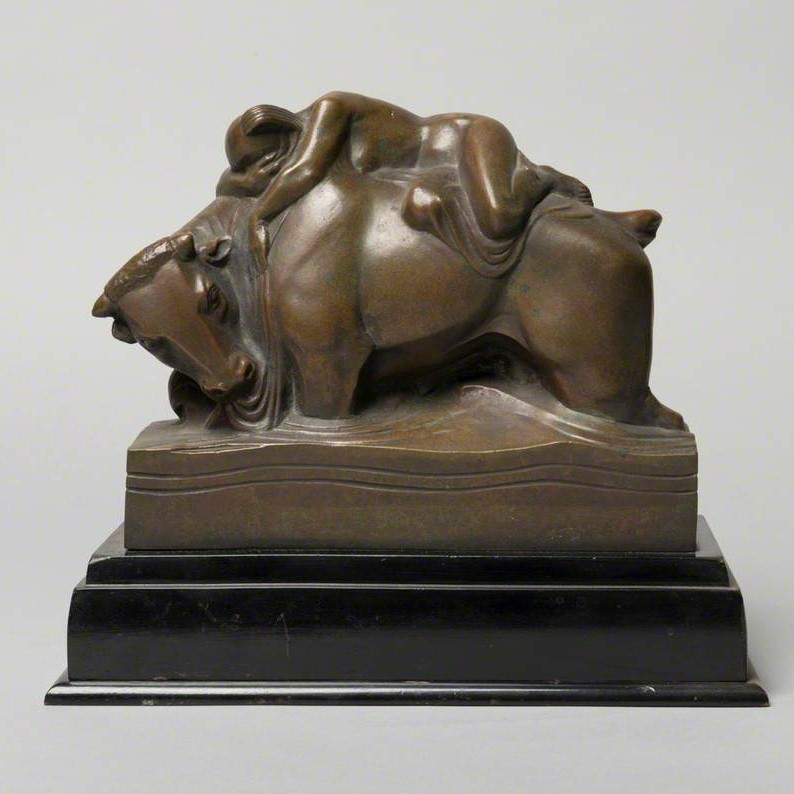 bronze sculpture of Europa on bull