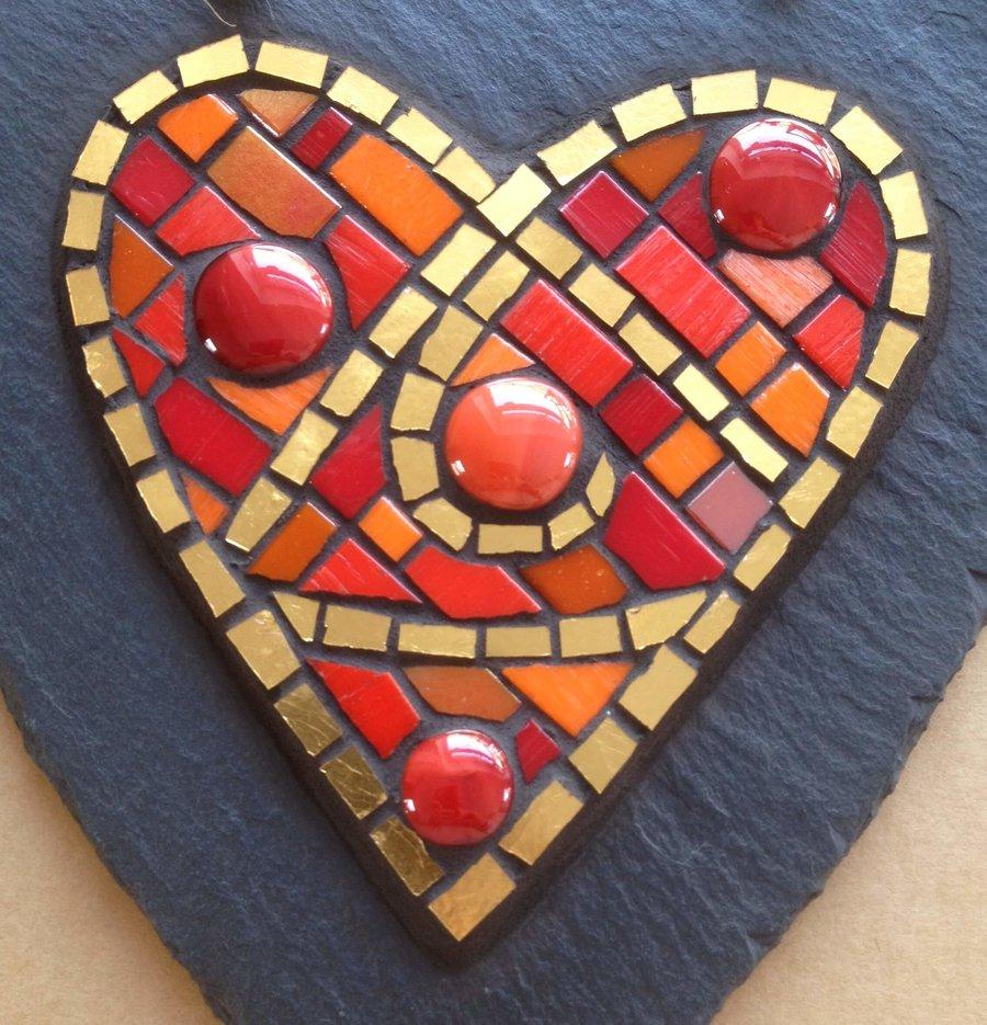 mosaic garden piece by Aleta Doran