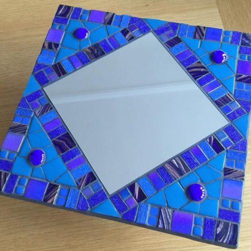 Aleta's blue mosaic mirror