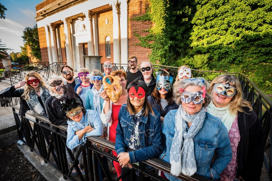 Oxton Artists and guests behind the masks
