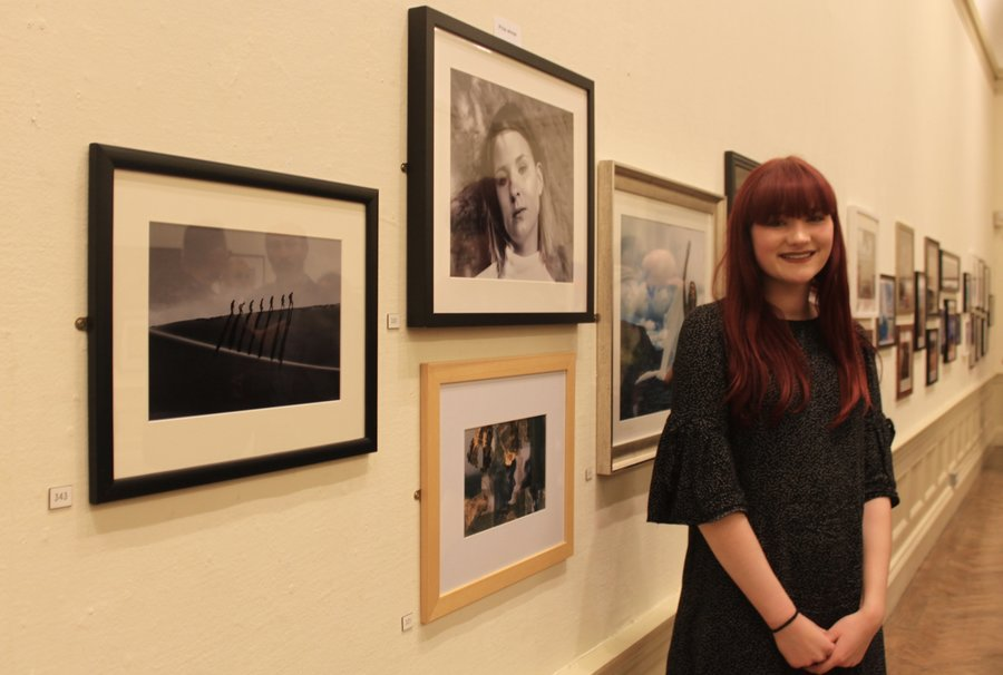 Rose Mairs with her prize winning photograph